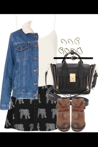 skirt elephant hippie hipster denim silk comfy clothes shoes jacket