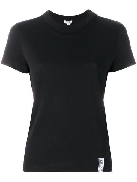Kenzo t-shirt shirt t-shirt women cotton black top