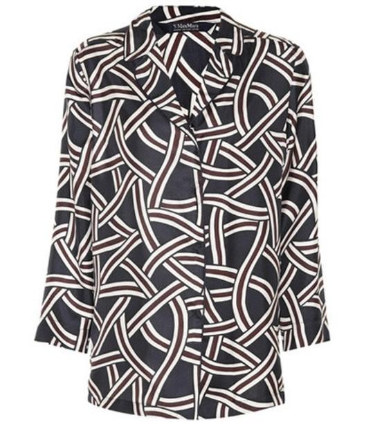 S Max Mara Selim silk twill shirt