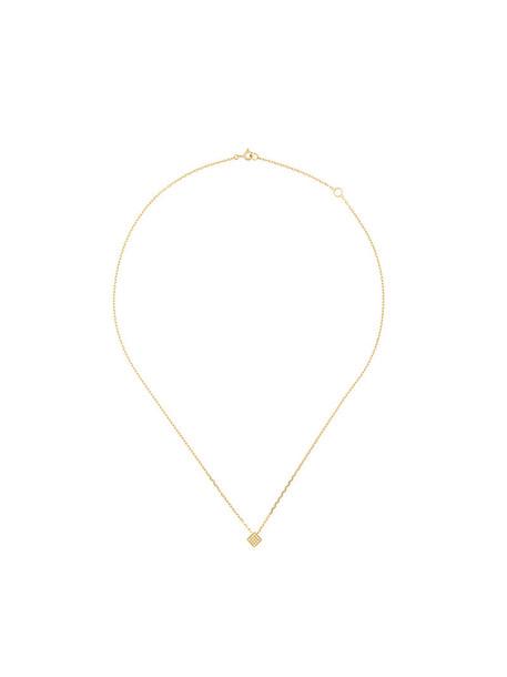 Noor Fares women necklace pendant gold yellow grey metallic jewels