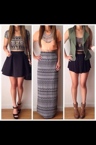 girly aztec cute dress stylish hipster skirt top jacket shoes
