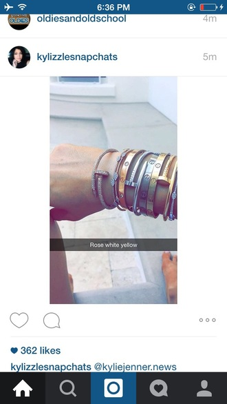 jewels bracelets gold silver jewelry kylie jenner jewelry keeping up with the kardashians