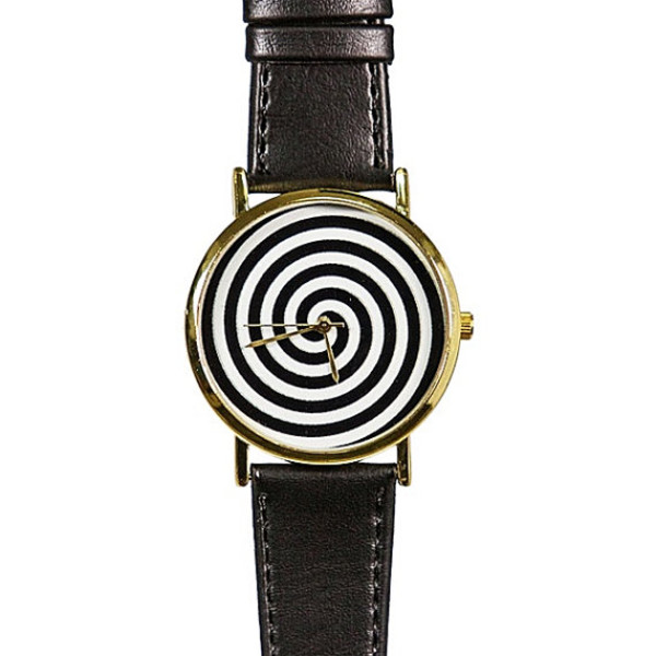 jewels spiral black and whtie watch handmade etsy style halloween black watch