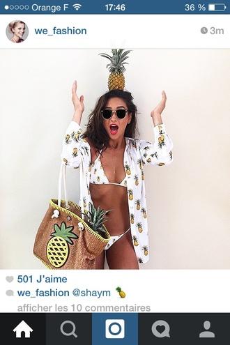 swimwear shay mitchell pineapple print