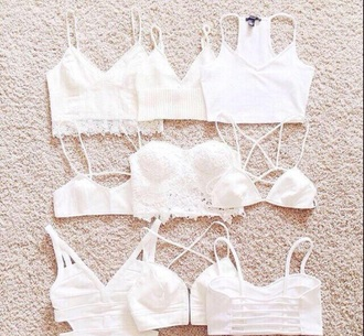 blouse shirt white white crop tops crop tops cute top summer fall outfits lingerie underwear tank top bra funny vintage bralette