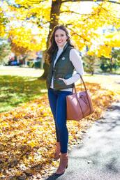 covering bases,curvy,blogger,jacket,sweater,jeans,shoes,bag,jewels,ankle boots,vest,fall outfits
