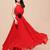 A-line Bateau Pleat Chiffon Dresses : KissChic.com