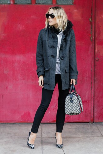 damsel in dior blogger duffle coat
