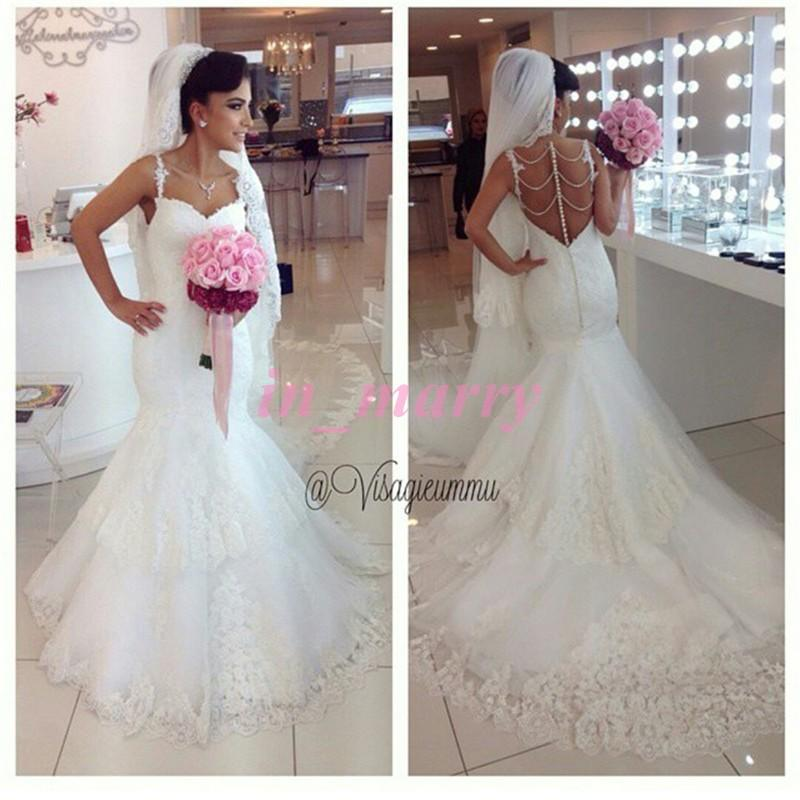 Sexy Vintage Lace Mermaid Wedding Dresses 2015 Sweetheart Beadings Plus Size