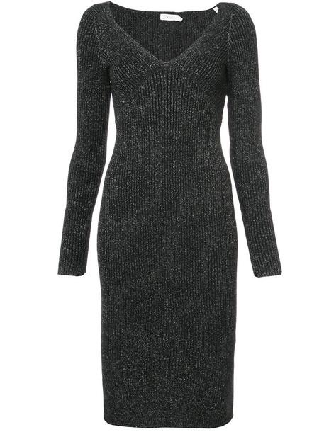dress metallic women grey