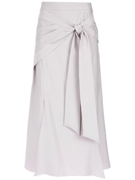 Giuliana Romanno skirt midi skirt bow women midi nude