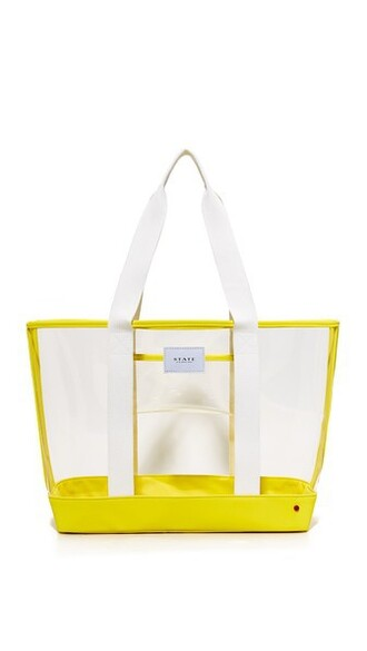 clear yellow bag