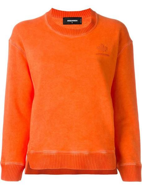 Dsquared2 sweatshirt yellow orange sweater