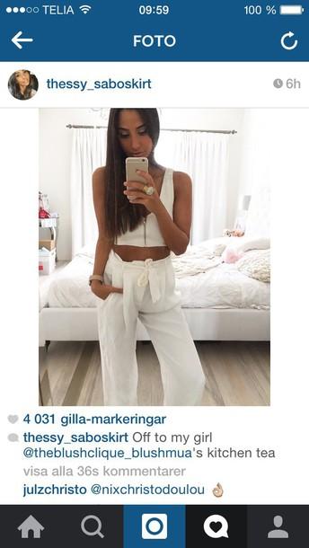 pants white summer pants