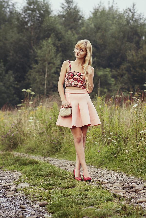 charmeuse top skirt