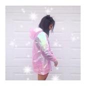 jacket,pink,windbreaker,holographic