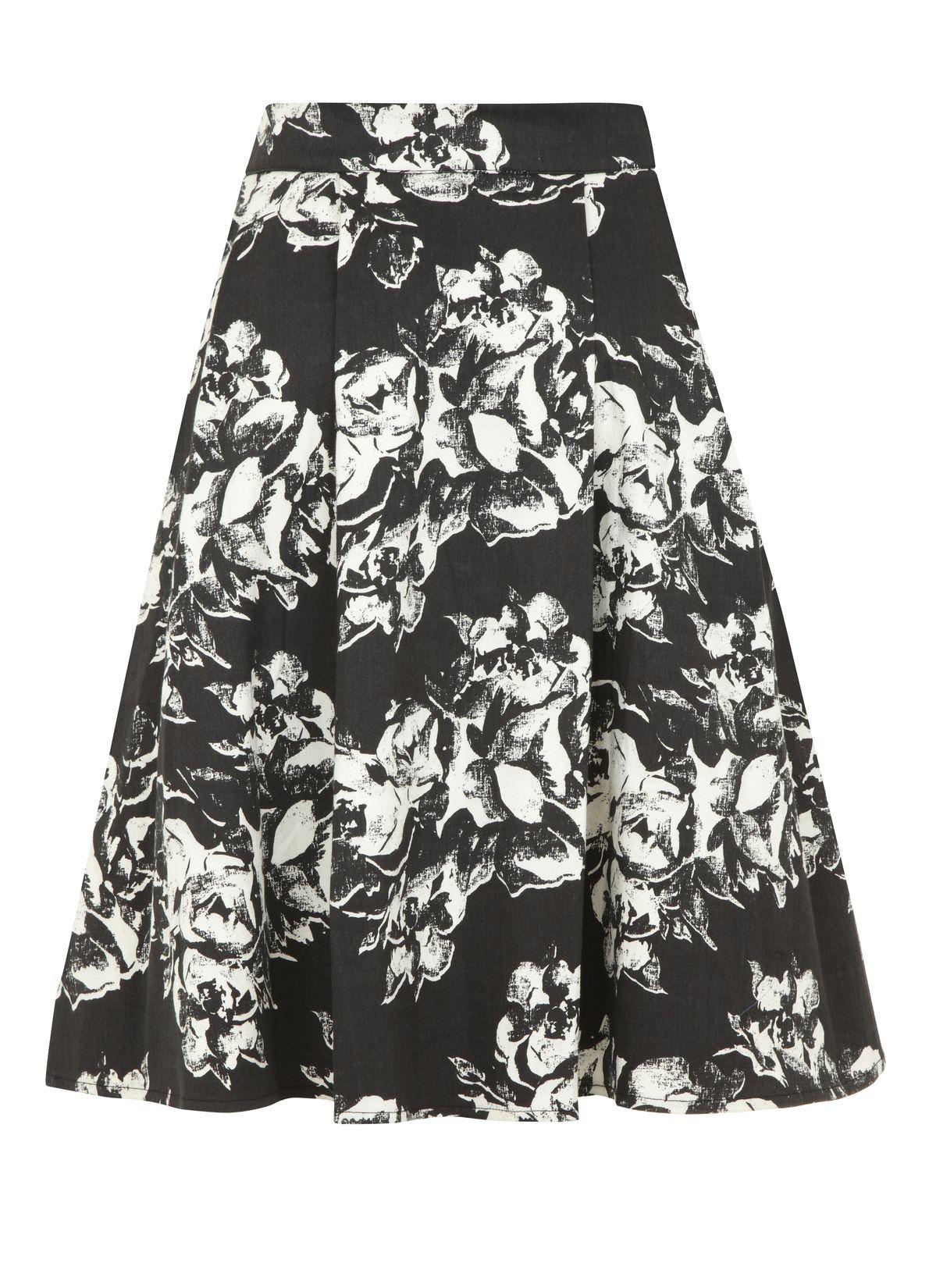 City floral print skirt