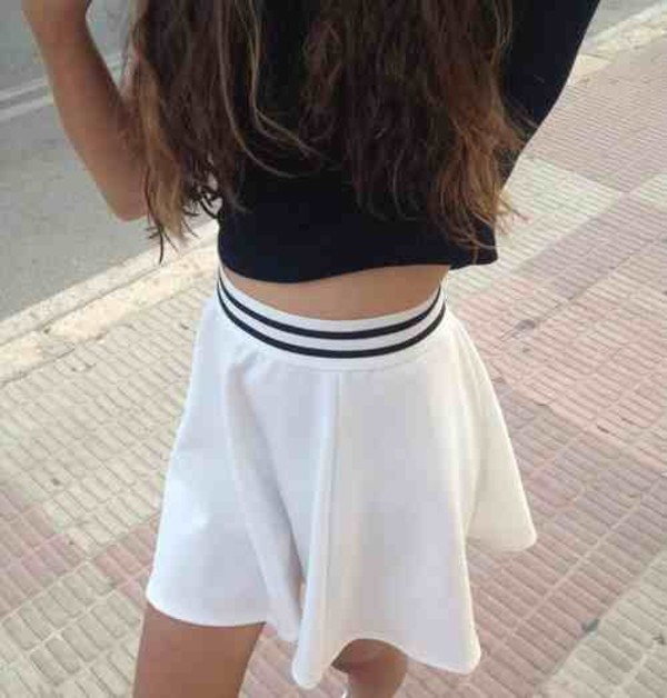 Skirt Black White Pale Grunge Soft Grunge Soft Ghetto