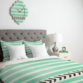 home accessory,quilt,bedding,bedcover,mint,chevron,stripes,hipster