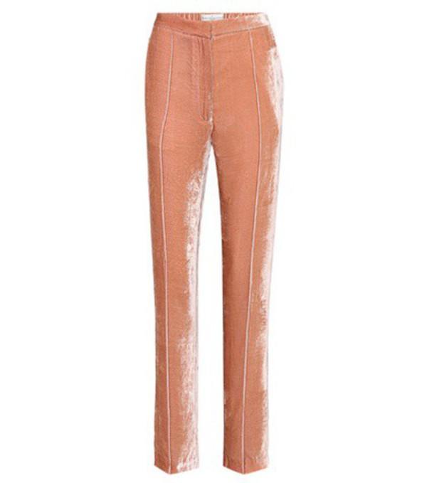 Golden Goose Deluxe Brand Vanda Varsity velvet trousers in pink