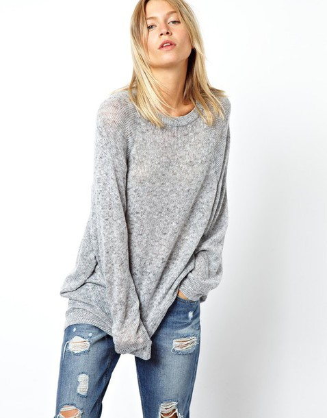 sweater oversized sweater grey sweater