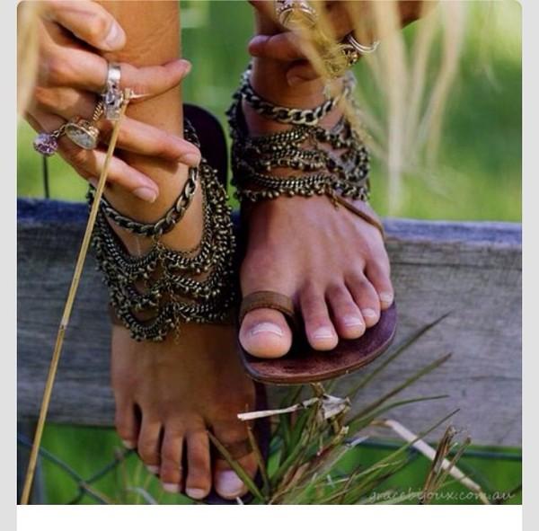 shoes sandals boho hippie hippie jewels