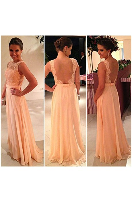 Line bateau floor length chiffon prom dress with flower napd0009 sale at shopindress.com