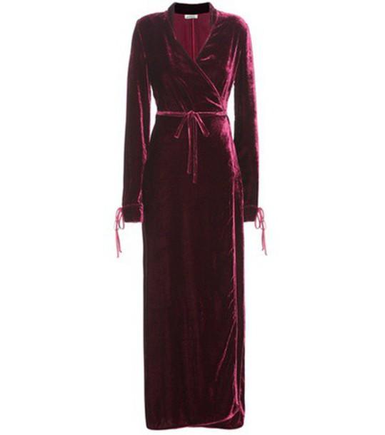 Attico Velvet Dress in red