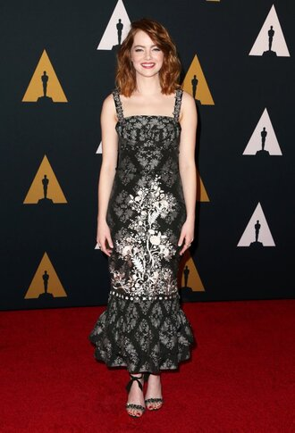 dress midi dress emma stone sandals gown prom dress