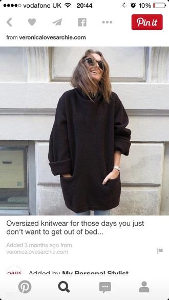 sweater black black grunge black top grunge jewelry knitted sweater baggy sweaters beautiful dress perfecto