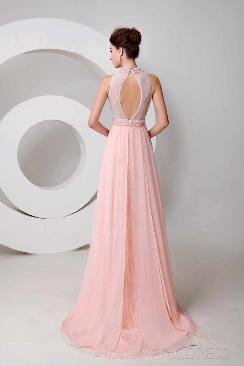 New Style  Graceful Jewel Neck Pearls A-Line Floor Length Evening Dress Evening Dresses 2014- ericdress.com 10920134