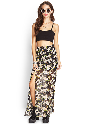 Floral Chiffon Maxi Skirt | FOREVER 21 - 2000088247