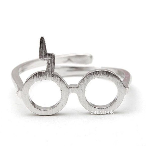 harry potter jewels harry potter ring glasses ring ring unique ring man ring woman ring adjustable ring harry potter style harry potter inspired