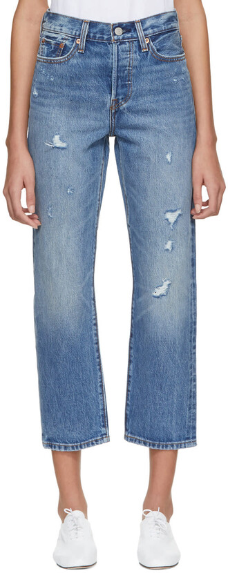 jeans straight jeans blue
