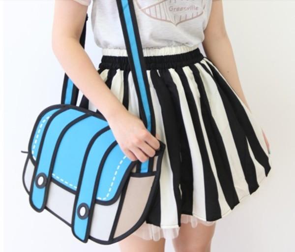 skirt kawaii ulzzang black and white striped skirt