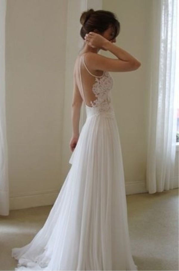 dress wedding dress hipster wedding beach wedding white dress ball ball gown wedding dresses beautiful wanda borges white lace dress mesh flowy dress off-white dress long prom dress lace dress lace backless dress chiffon dress prom dress a line wedding dresses JDP012 JUDYSBRIDAL DRESS