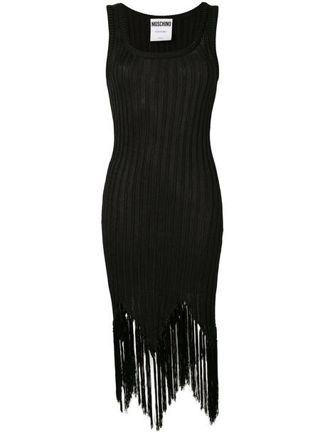 Moschino dress women black knit