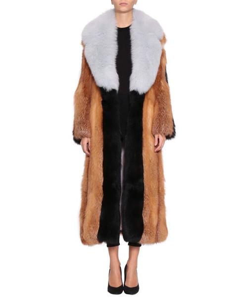 Numerootto coat fur coat fur multicolor