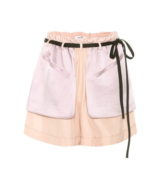 Valentino Crêpe and satin shorts in pink