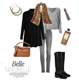 unefemme blogger jewels scarf make-up cardigan bag jeans shoes
