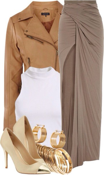 jacket skirt maxi dope outfit