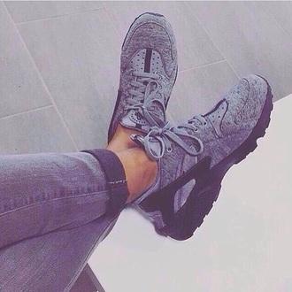shoes nike grey sneakers huarache