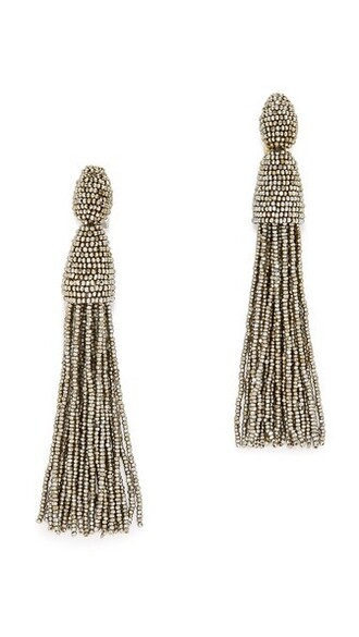 tassel earrings champagne jewels