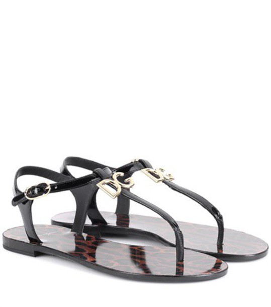 Dolce & Gabbana sandals leather sandals leather black shoes