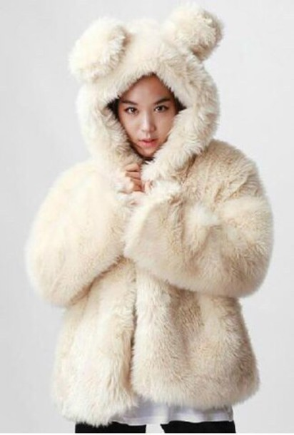 jacket fluffy fuzzy coat oversized