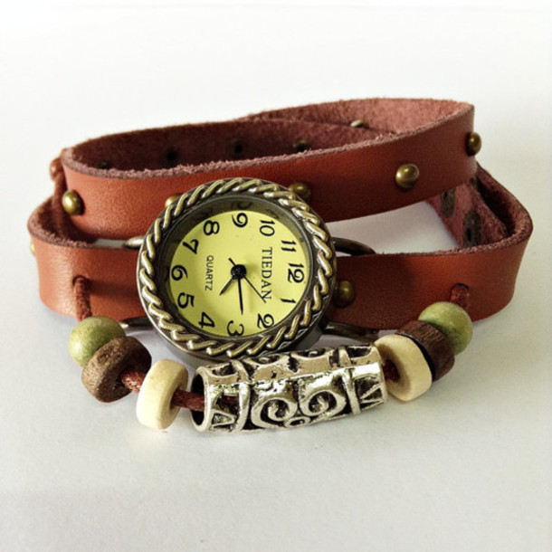 Jewels: wrap watch, leather watch, leather bracelet ...