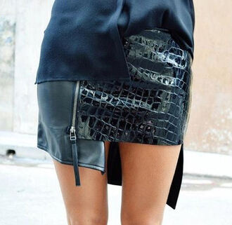 Edgy Black Leather Skirt - Shop for Edgy Black Leather Skirt on ...