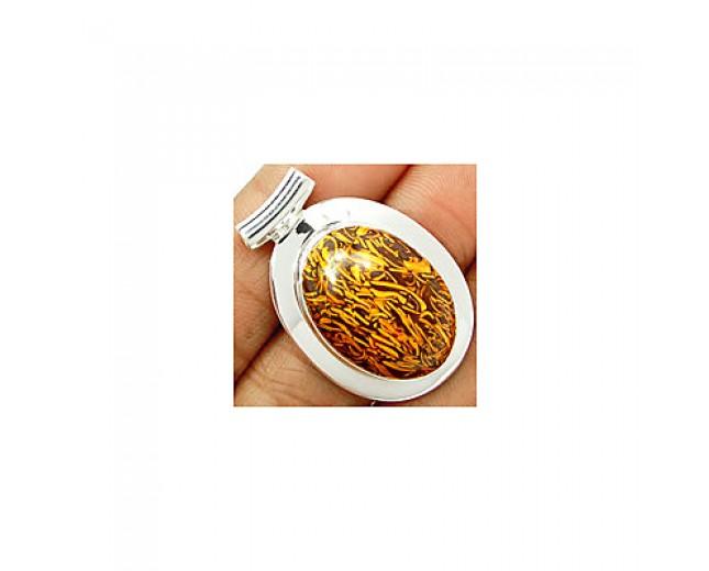 Handmade 925 sterling silver Coquina Jasper Pendant