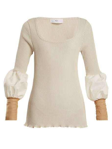 Toga sweater mesh knit white