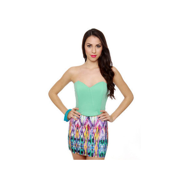 Cute Mint Green Top - Strapless Top - Bustier Top - $31.00 - Polyvore